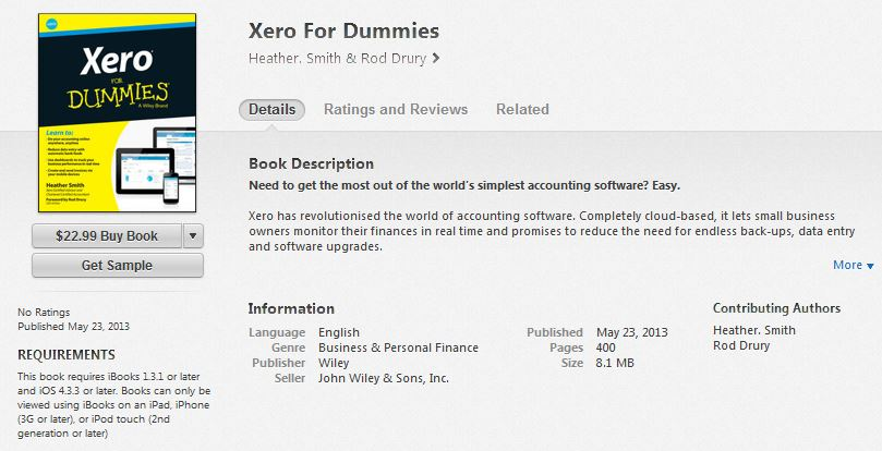 Rod Drury Itune Xero for Dummies